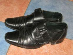 Туфли для мальчика 34 размер классика на липучке