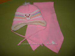 Комплект шапка и шарфик для самых маленьких