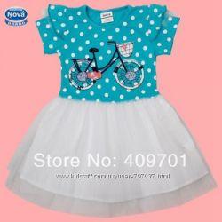 Красивое летнее платье марки Nova для маленьких модниц