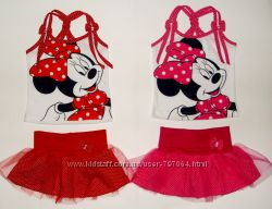 новые летние костюмчики с минни маус для девочек от 2 лет