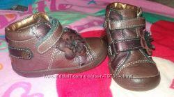 Кожаные ботинки для девочки babybotte Франция 21р. 13см