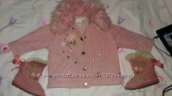 Стильная вельветовая куртка для модницы, фирма H&M. 1-1, 5  года р. 86