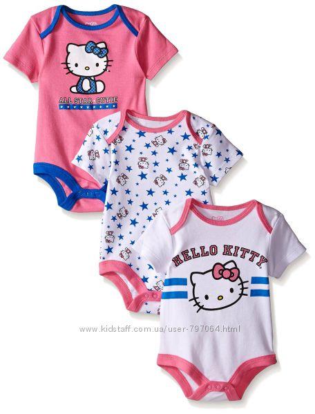 Фирменные боди Hello Kitty в наличии 6-9 мес.