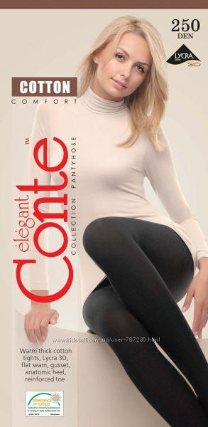 Conte cotton 250, 400, 450 den колготки, леггинсы, top, modal