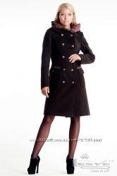 женское пальто  КОФЕ с отличной посадкой на любую фигуру