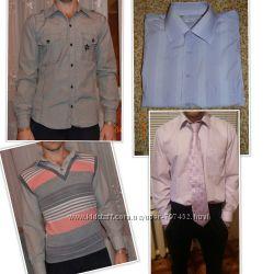 Рубашки мужские, рубашки обманки, галстук