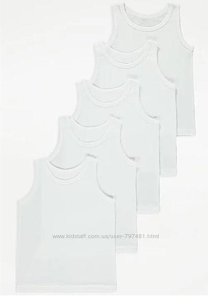 Майки белые George для мальчика на рост 146-152-158-164см, 11-14лет