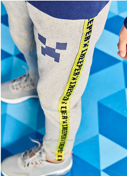Джоггеры Майнкрафт, спортивные брюки George Англия для мальчика 7-10лет