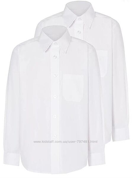 Рубашка с длинным рукавом George Англия модель Slim fit