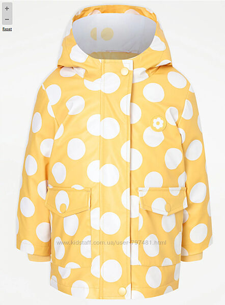 Демисезонная куртка, дождевик 3 в 1 George Англия 2-3года рост 92-98см