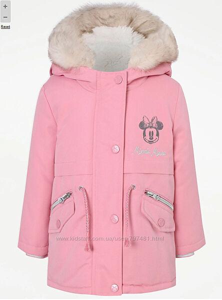 Зимняя куртка, парка George Англия 2-3года рост 92-98см