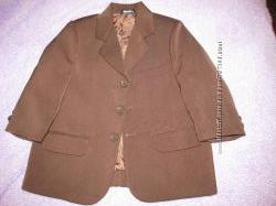 Пиджак шоколадного цвета для маленького модника