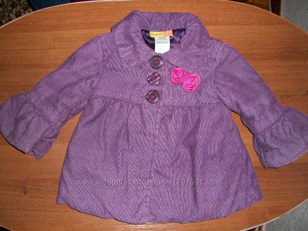 Пальто куртка для девочки, 18 мес.