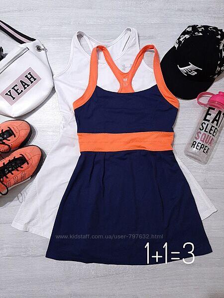 H&M спортивное мини платье XS-S крутое яркое короткое теннисное спорт лето