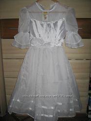 Нове біле нарядне плаття, 7-10 років