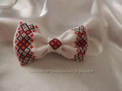 Вишитий метелик краватка  галстук бабочка с вышивкой