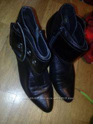 Кожаные ботильоны, ботинки, полусапожки
