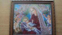 Ікона богородиця з немовлям та ангелами