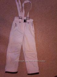 Rodeo Лыжные белые зимние штаны брюки полукмбинезон на рост 134-140см