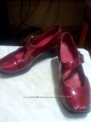 туфли макасины Кларкс ортопеды на липучке натуральный лак