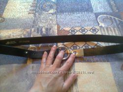 Кожаный фирменный пояс ремень в идеале не ношен  42-44 размер