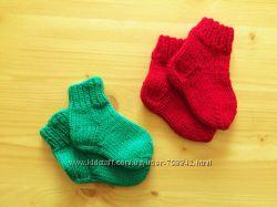 детские теплые вязанные носки