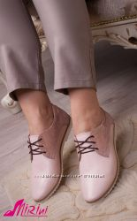Туфли-оксфорды, кожа, замш, есть цвета
