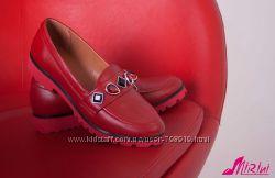 Женские кожаные лоферы, замш, есть цвета