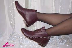 Ботинки весенние кожа, замш, есть цвета 012-21К