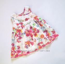 Платье с запАхом от Monsoon, 3-6 мес.