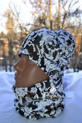Эксклюзивные шапки и снуды Handmade for kids FK для самых стильных деток