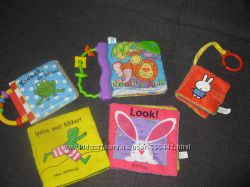 Мягкие книжечки игрушки развивающие для самых маленьких