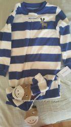 Carter&acutes пижама тёплая полосатая