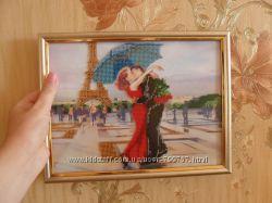 картины вышитые бисером Романтика