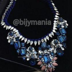Синее ожерелье SHOUROUK Скидка