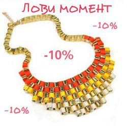 Распродажа Оранжевое Ожерелье Градиент