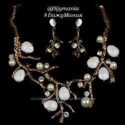 Красивый Набор украшений Ожерелье и Серьги