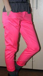 Капри бриджи розовые
