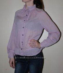 Блуза рубашка бледного розового цвета
