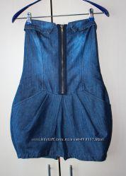 Платье бюстье джинсовое