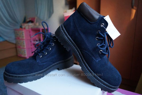Ботинки для девочки и мальчика зимние замша, новые р, 35, 36, 37, 38, 39,