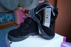 Ботинки для мальчика, девочки, зимние, замша новые р25, 26, 27, 28, 29, 30,