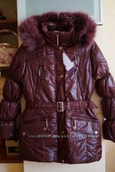 Зимнее пальто, пуховик, куртка для девочки, новое, опушка-песец, р. 36-42