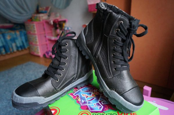 Ботинки для мальчика демисезонные, черные, новые р. 36, 37, 38, 39