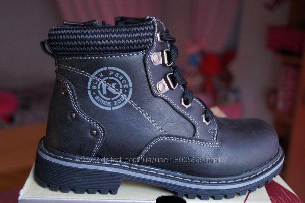 Ботинки для мальчика демисезонные, еврозима черные, новые р. 31, 32