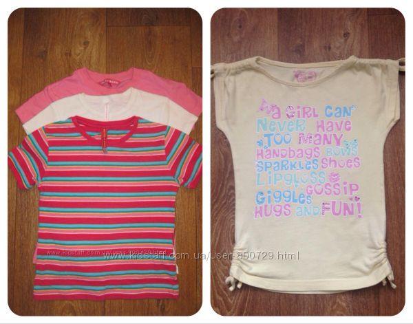 Акция продаю качественные футболки на девочку 6-8 лет