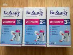 Детское питание Беллакт Оптимум-1 Оптимум-2 Оптимум-3 Оптимум 1 2 3
