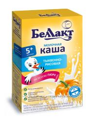 Каша смесь сухая молочная тыквенно - рисовая Беллакт тыква рис