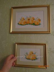 Цыплята две картины