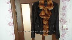 Куртка утеплённая из меха пони и  шиншилы. Размер 44-46